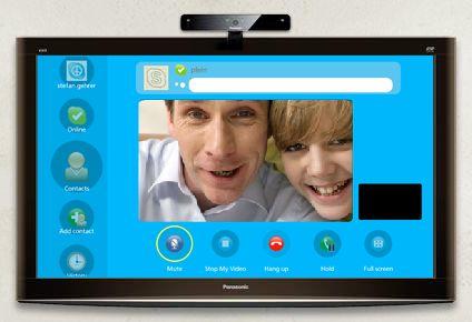 Aplicación Skype™ para Viera Cast