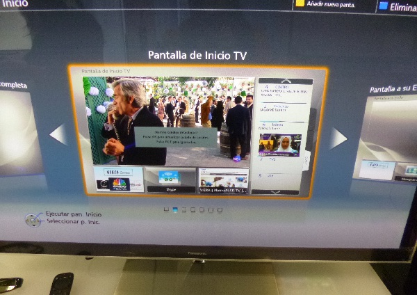 Pantalla inicio TV