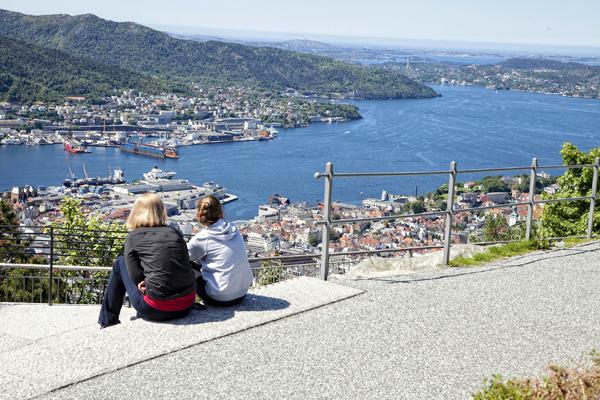 Desde el mirador de Bergen