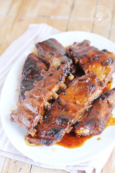 Costillas a la miel www.cocinandoentreolivos.com (5)