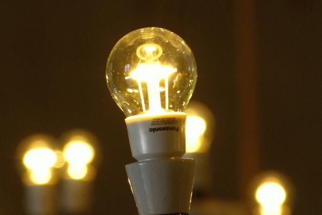 bombilla LED en el castillo de Praga