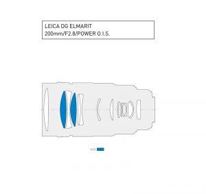Lente objetivo LEICA DG ELMARIT 200 mm f/2.8 Power OIS