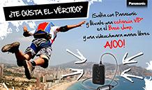 La videocámara A100, en el Campeonato Mundial de Salto Base 2013