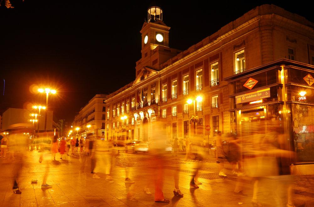 Puerta del Sol de noche