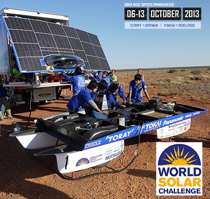 Panasonic con la energía solar en la World Solar Challenge 2013