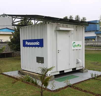 Panasonic desarrolla un Contenedor de energía autónomo para lugares sin electricidad