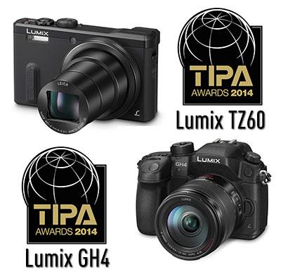 La LUMIX GH4 y la TZ60, Premios TIPA 2014