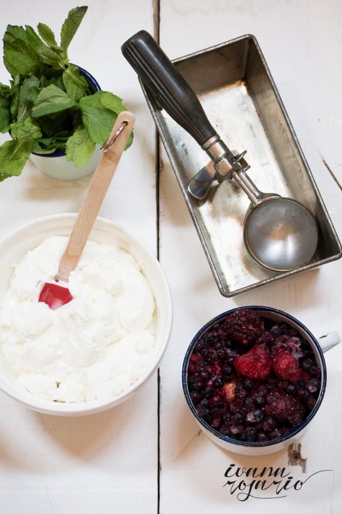 0001 20140712 Helado yogurt y cerezas, con frutas del blosque Panasonic