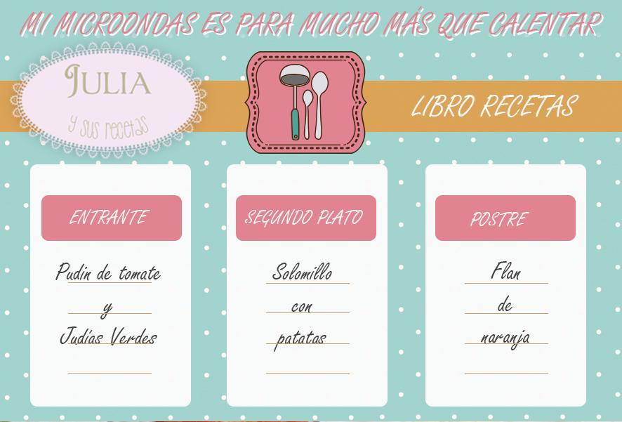 microondas recetas