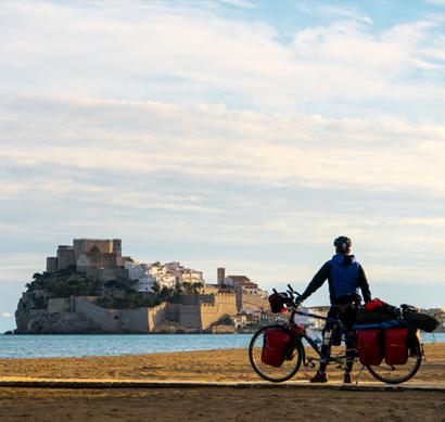 Olor a mar y belleza en cada atardecer, Peñiscola desde la bici