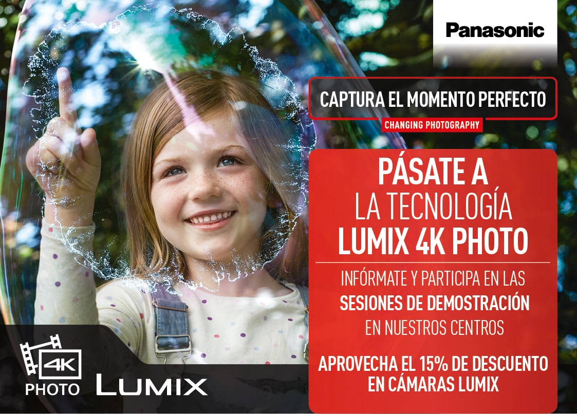 Descubre la gama Lumix 4K en el Corte Inglés
