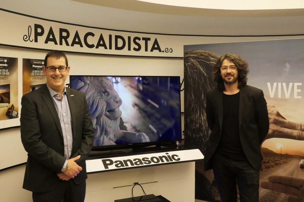 PANASONIC_Jordi Rincón, Senior Manager Electrónica de Consumo de Panasonic España junto al Director de Fotografía Migue Amoedo
