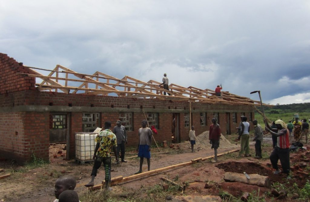 In the process to build a school in DRC