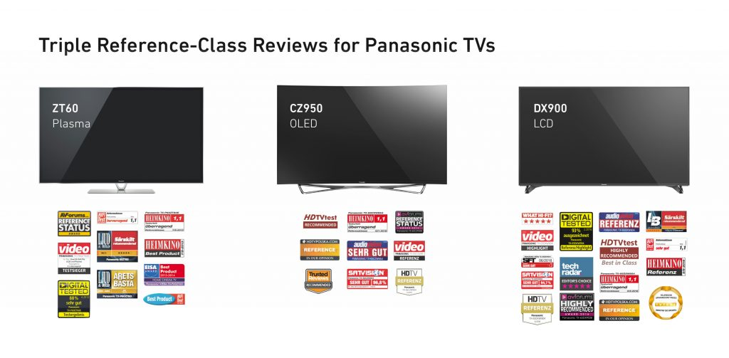 Triple Reference Class Reviews for Panasonic TVs