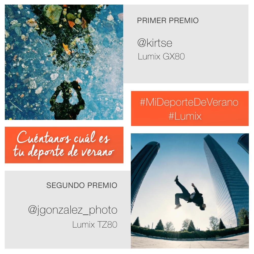 Ganadores del concurso #MiDeporteDeVerano en Instagram
