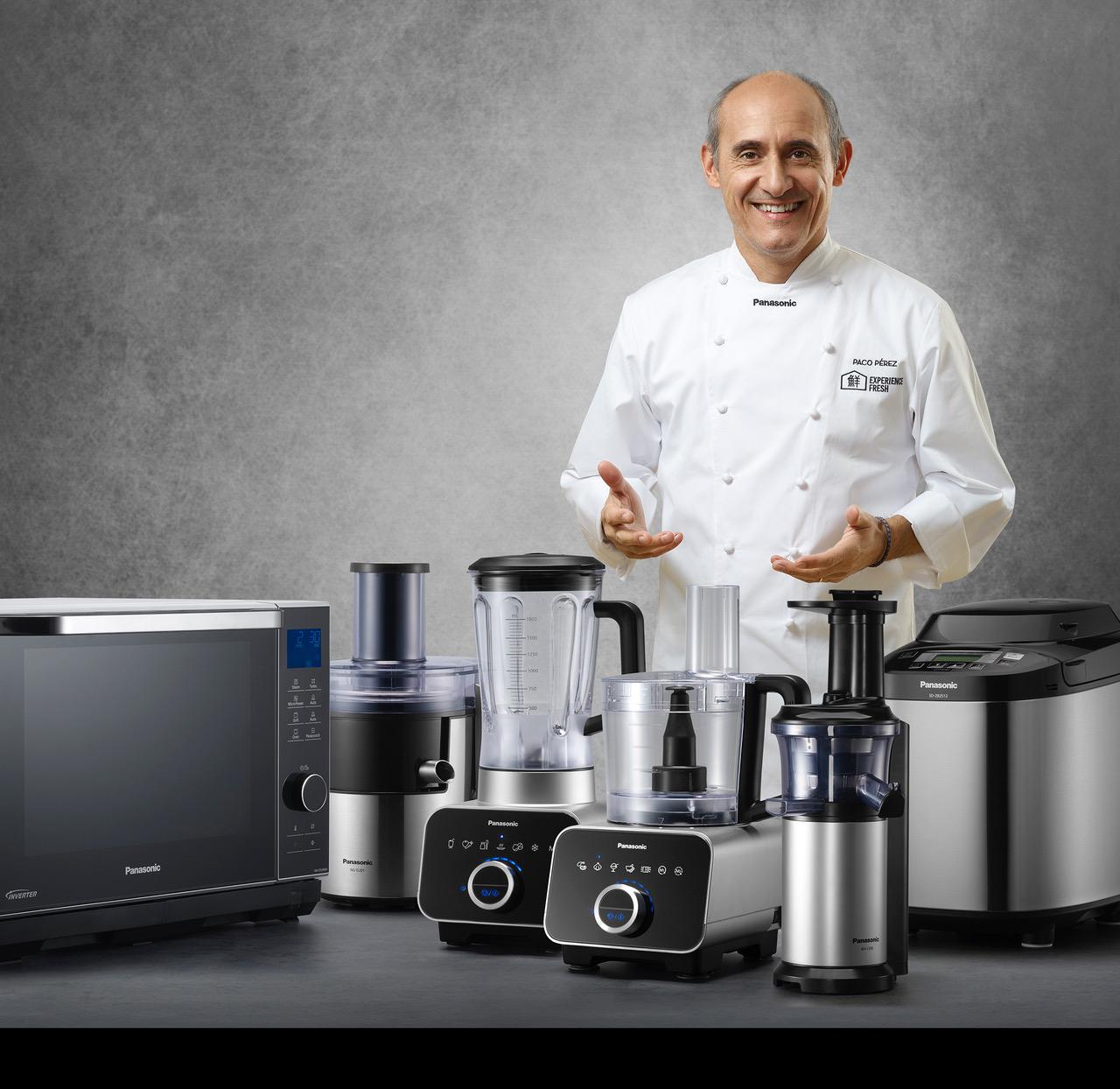 Presentamos nuestra línea de electrodomésticos de cocina de la mano del chef Paco Pérez