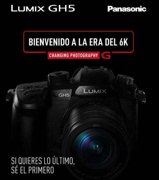 ¡Sé el primero en tener la nueva Lumix GH5!