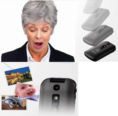 Nuevo teléfono móvil con un diseño y funciones específicas para seniors