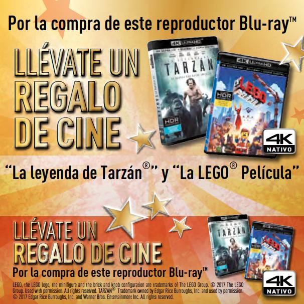 Llévate un regalo de cine por la compra de un reproductor Blu-ray