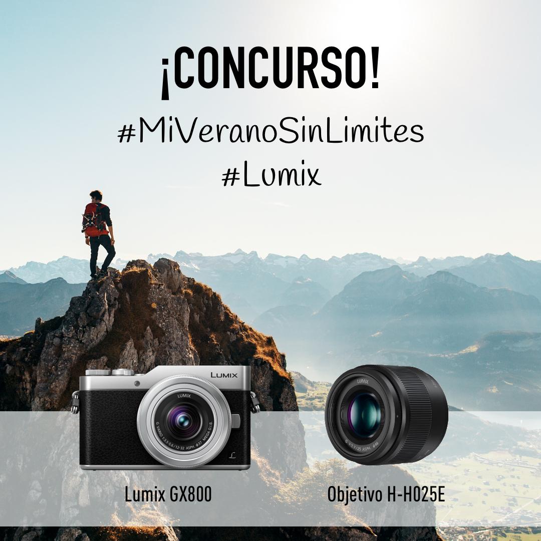 Concurso Instagram #MiVeranoSinLimites: gana una LUMIX GX800 o un objetivo 25mm