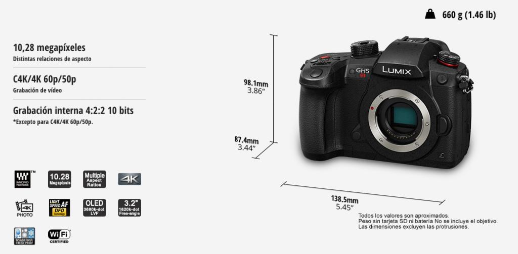 Caracteristicas Panasonic Lumix GH5S