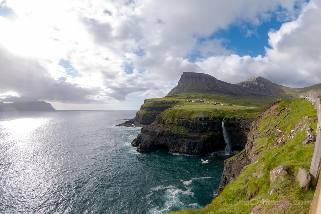 islas feroe, cascada gasadalur