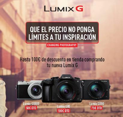 Descuento directo Lumix G: ahorra hasta 100€ en tu cámara 4K