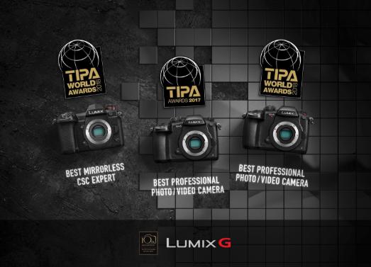 Nuestras cámaras LUMIX reciben 3 prestigiosos premios TIPA 2018