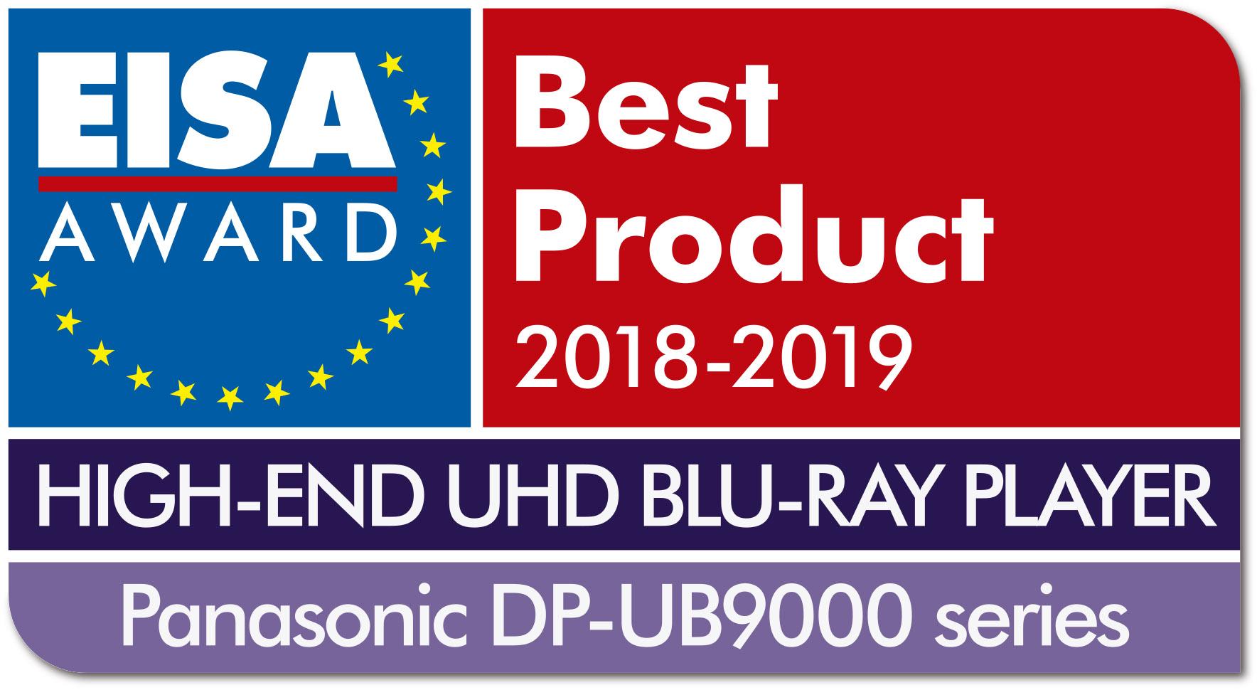 Nuestro reproductor Blu-Ray DP-UB9000 gana un premio EISA