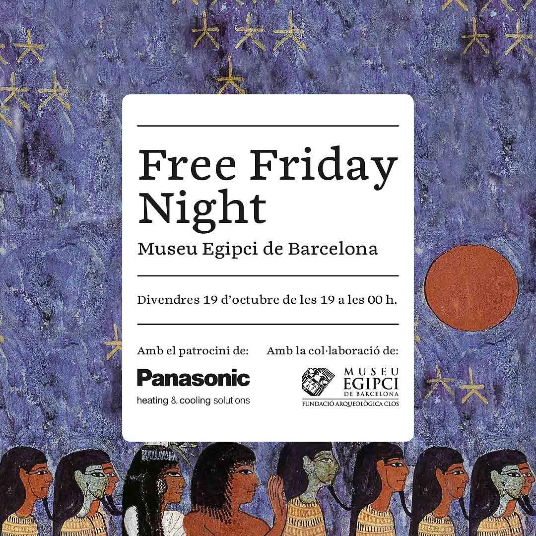 Noche de puertas abiertas en el Museo Egipcio de Barcelona