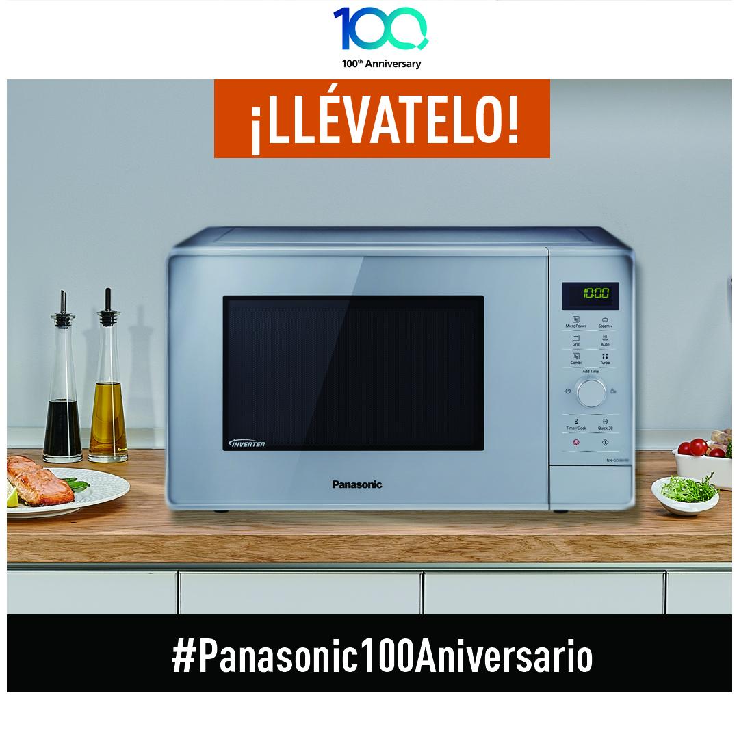Gana un Microondas Inverter NN-GD36HM en el nuevo concurso «Panasonic 100 Aniversario»