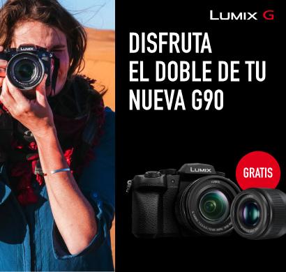 Te regalamos un objetivo de 25 mm por la compra de una Lumix G90