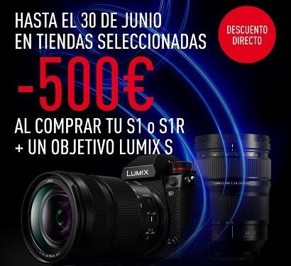 500€ de descuento directo al comprar tu cámara y objetivo Full Frame Lumix S