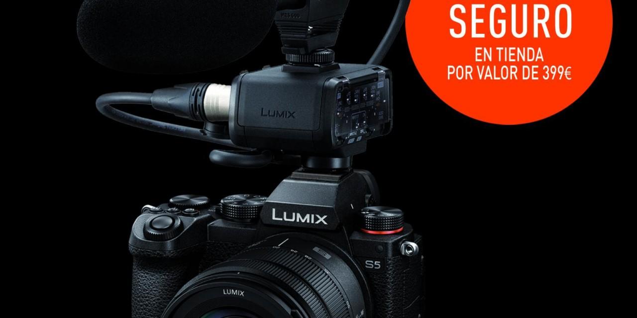 Llévate un adaptador de micrófono DMW-XLR1 por la compra de tu cámara Lumix S5